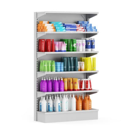 3d Market Shelf - Cosmetics