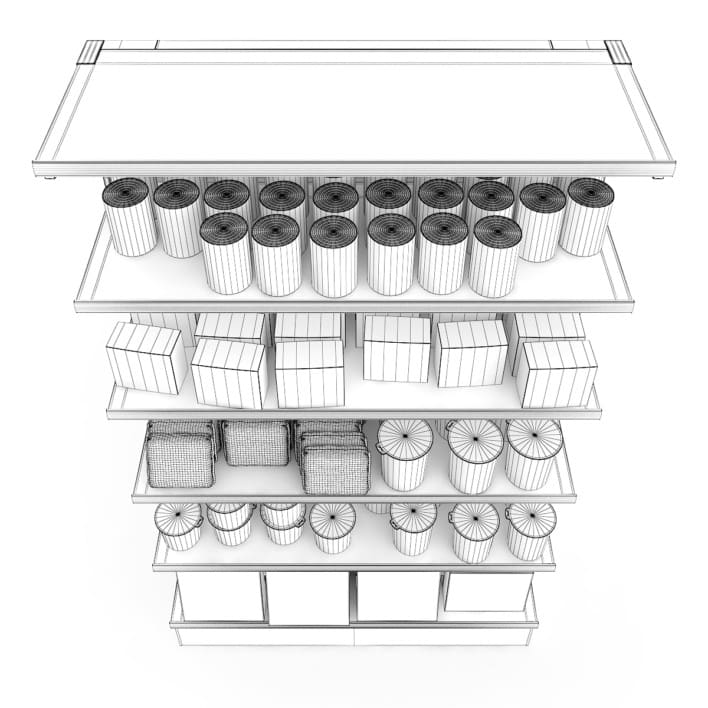 3d Market Shelf - Instant Foods
