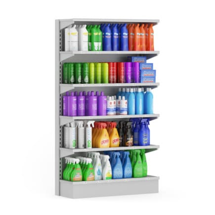 3d Market Shelf - Cleaning Products
