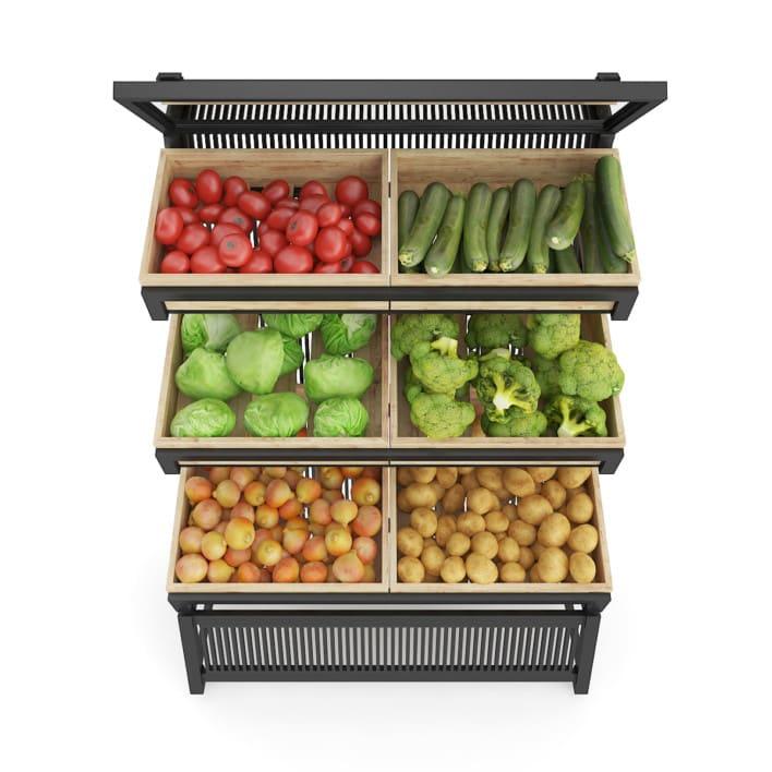 3d Market Shelf - Vegetables