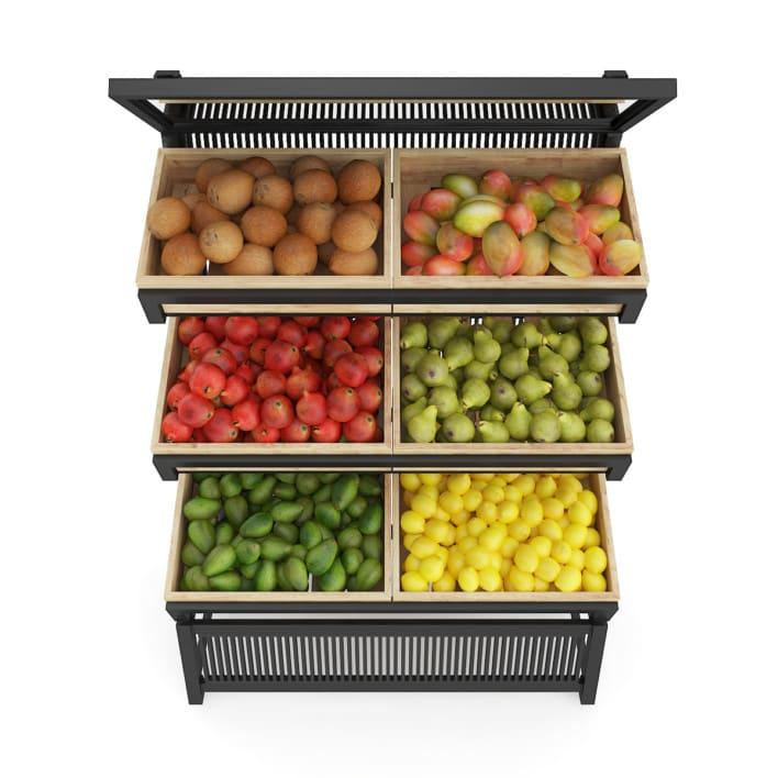 3d Market Shelf - Fruits