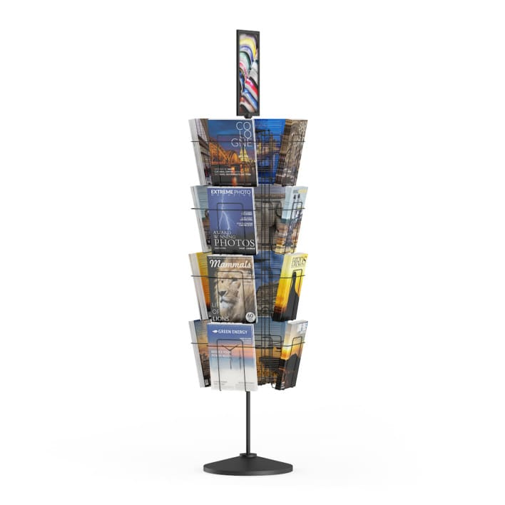 3d Market Stand with Magazines