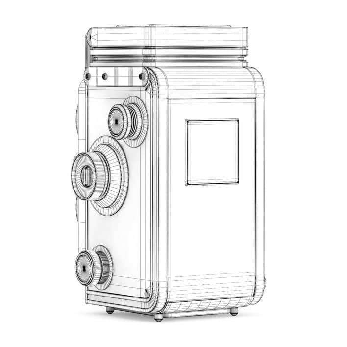3d Antique Photo Camera
