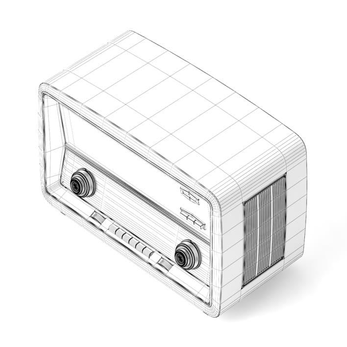 3d Antique Radio