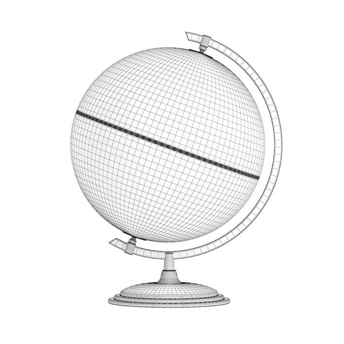 3d Antique Globe