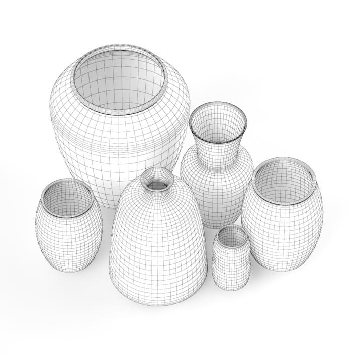 3d Ceramic Vases