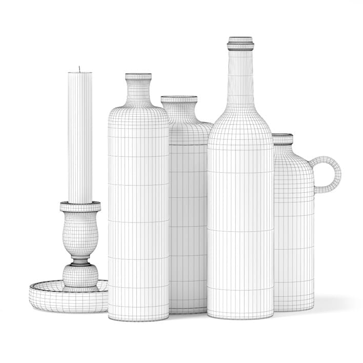 3d Vases and Candles