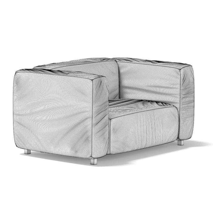 3d White Armchair