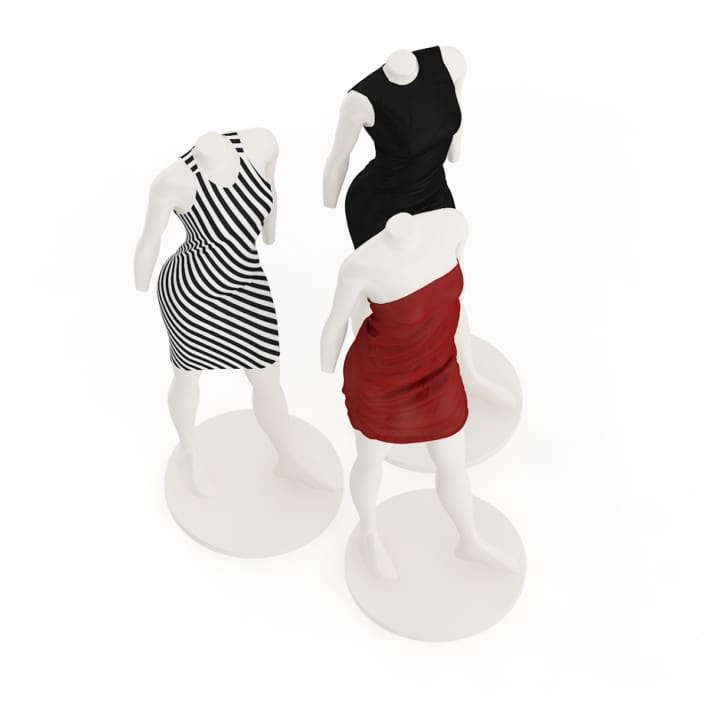 Store Mannequins with Dresses