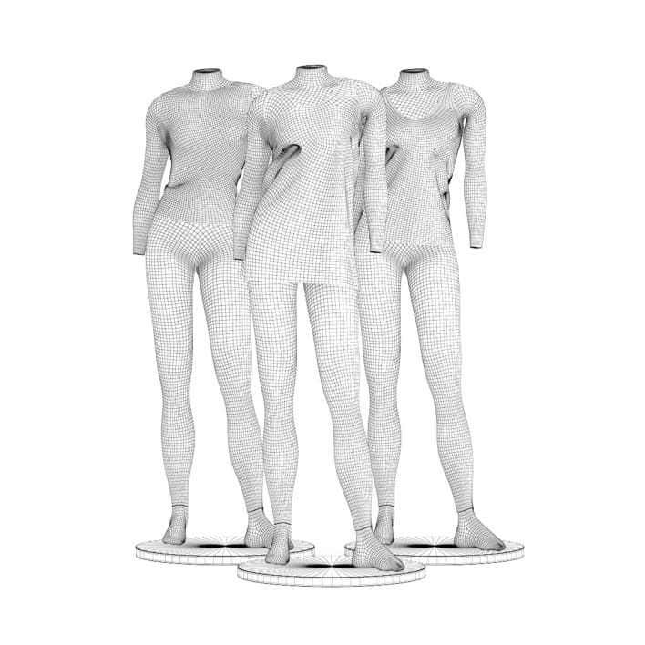 Store Mannequins with Shirts