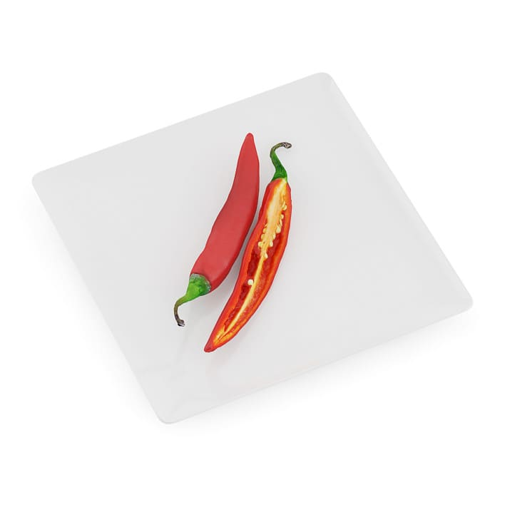 Chilli Pepper on White Plate