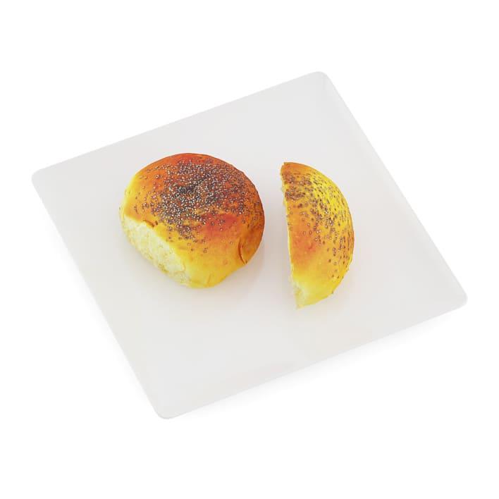 Sliced Bun with Poppy Seeds