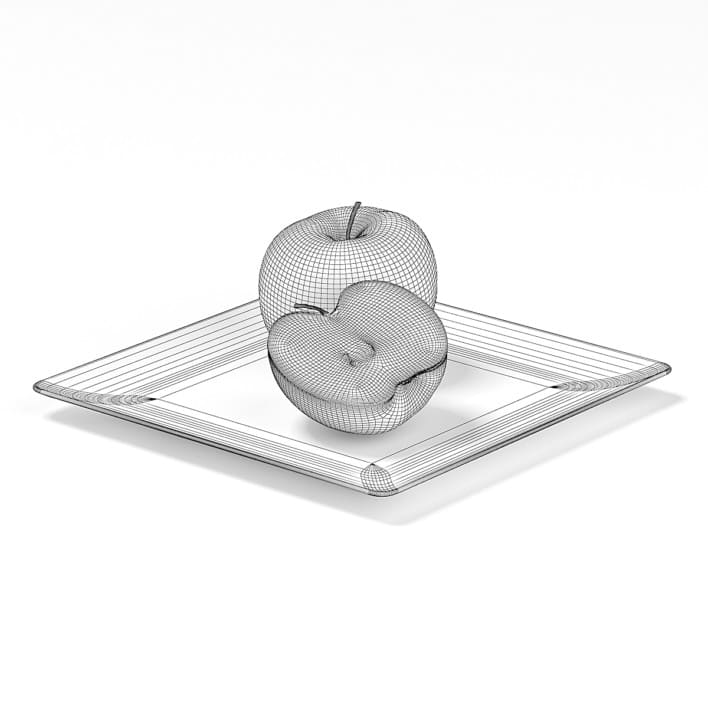 Apples on White Plate