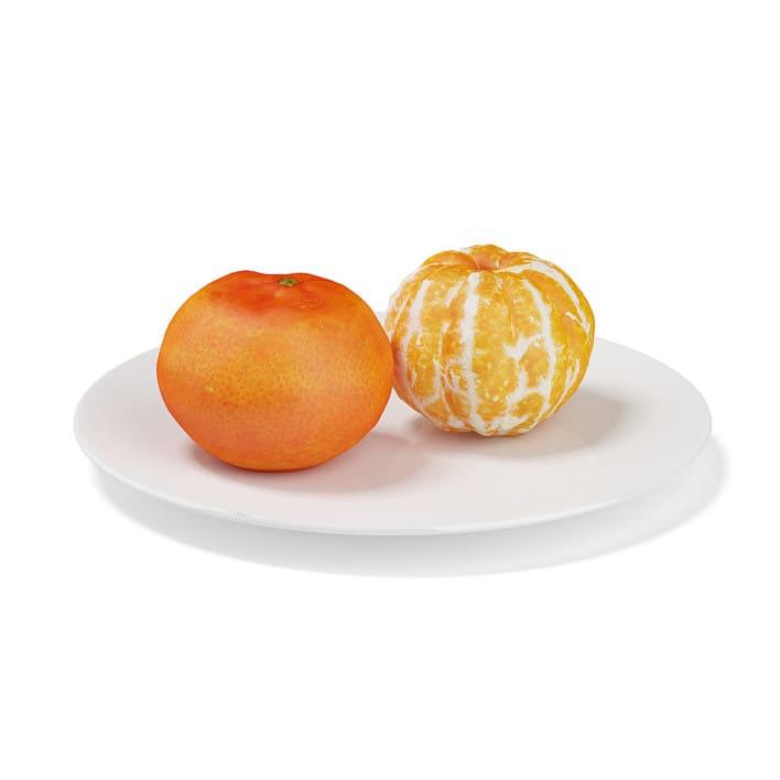 Tangerines on White Plate