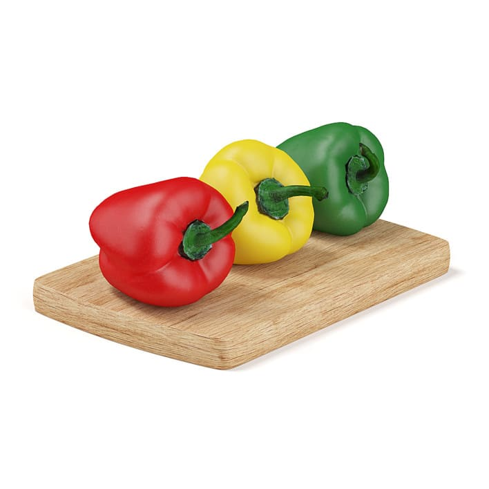 Red Yellow and Green Peppers