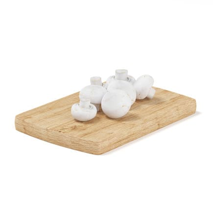 Mushrooms on Wooden Board