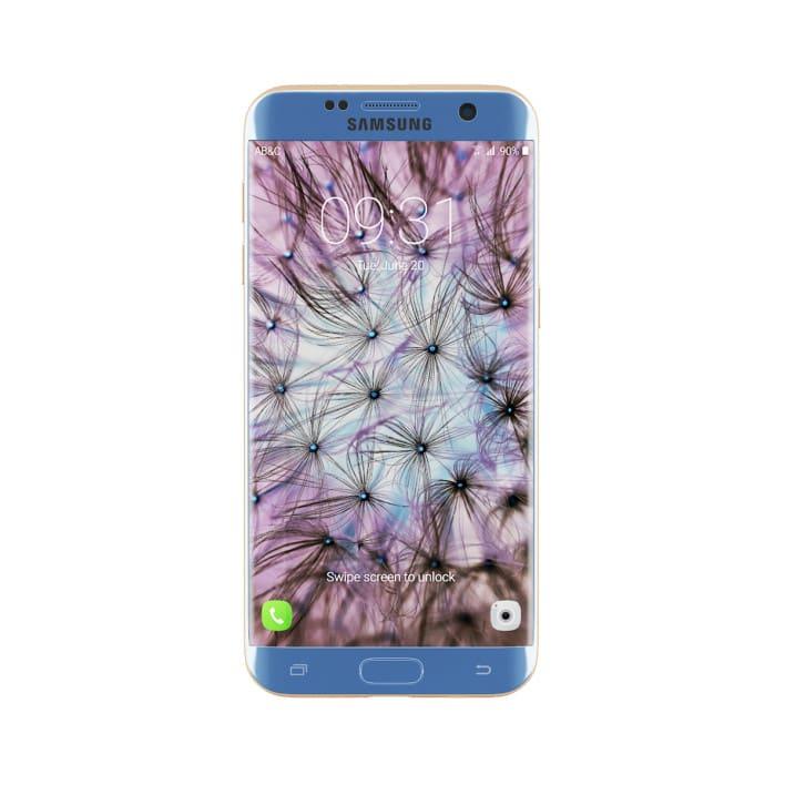 Galaxy S7 Edge Blue/Gold