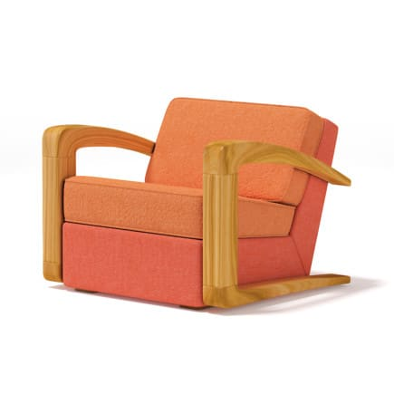 Orange Fabric Armchair