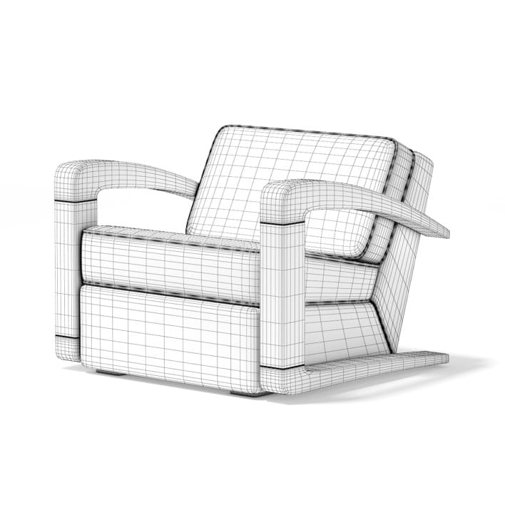 Orange Fabric Armchair
