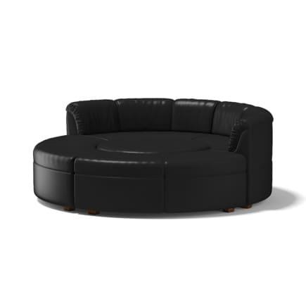 Black Round Sofa