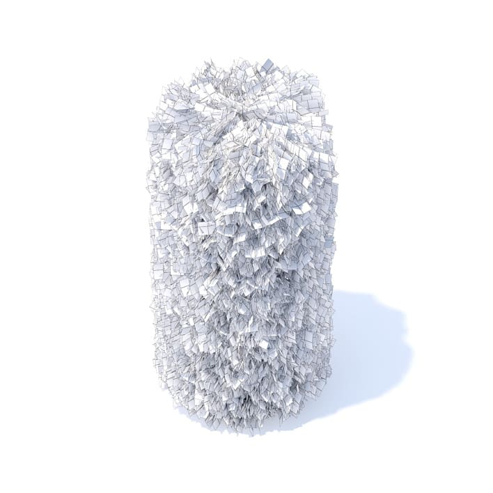 Cylindrical Thuja Hedge 3D Model