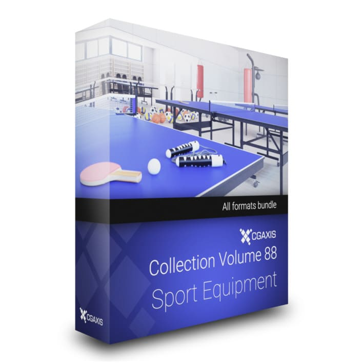 Sport Equipment 3D Models Collection by CGAxis
