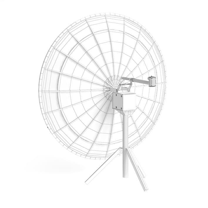 Black Satellite Dish 3D Model