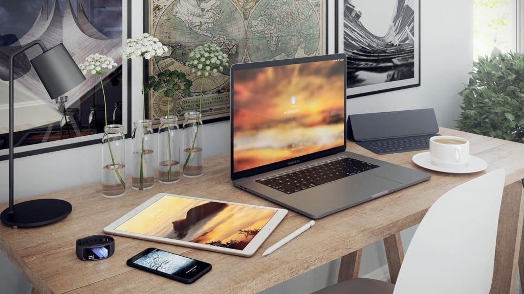3D Desk Scene
