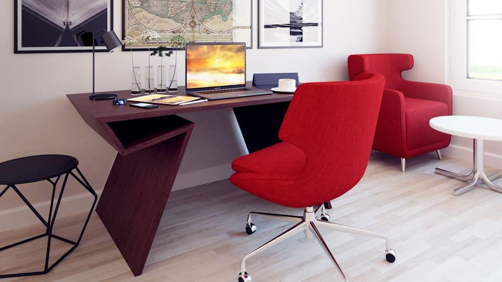 Home Office 3D Scene