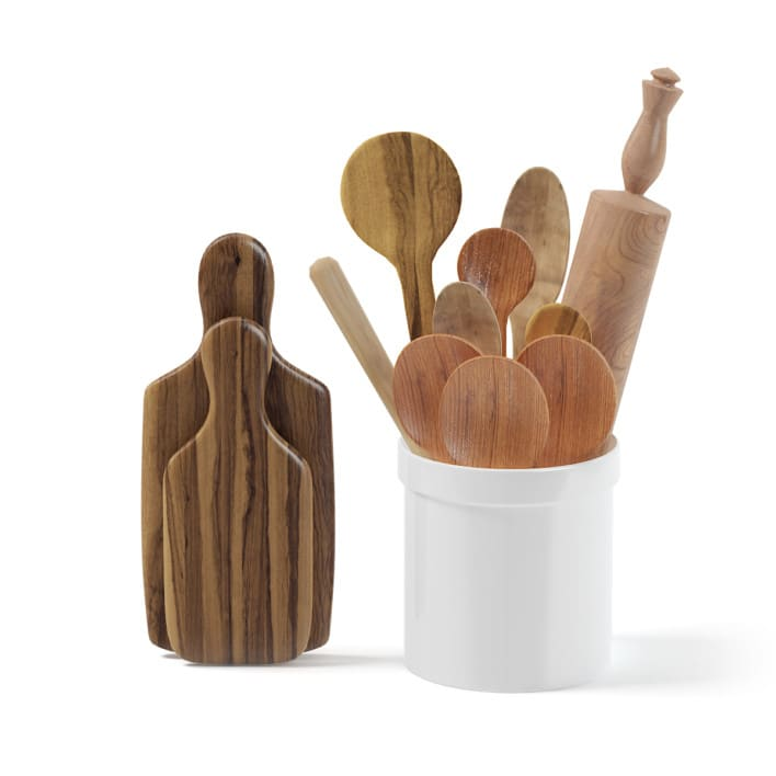 Wooden Kitchen Utensils 3D Model