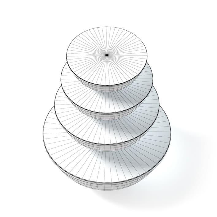 Bowls Set 3D Model