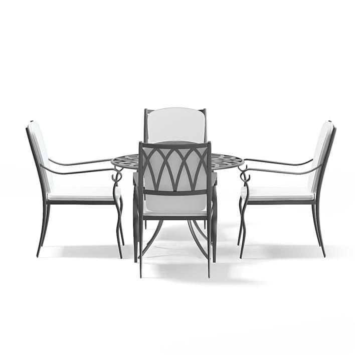Garden Table Set 3D Model