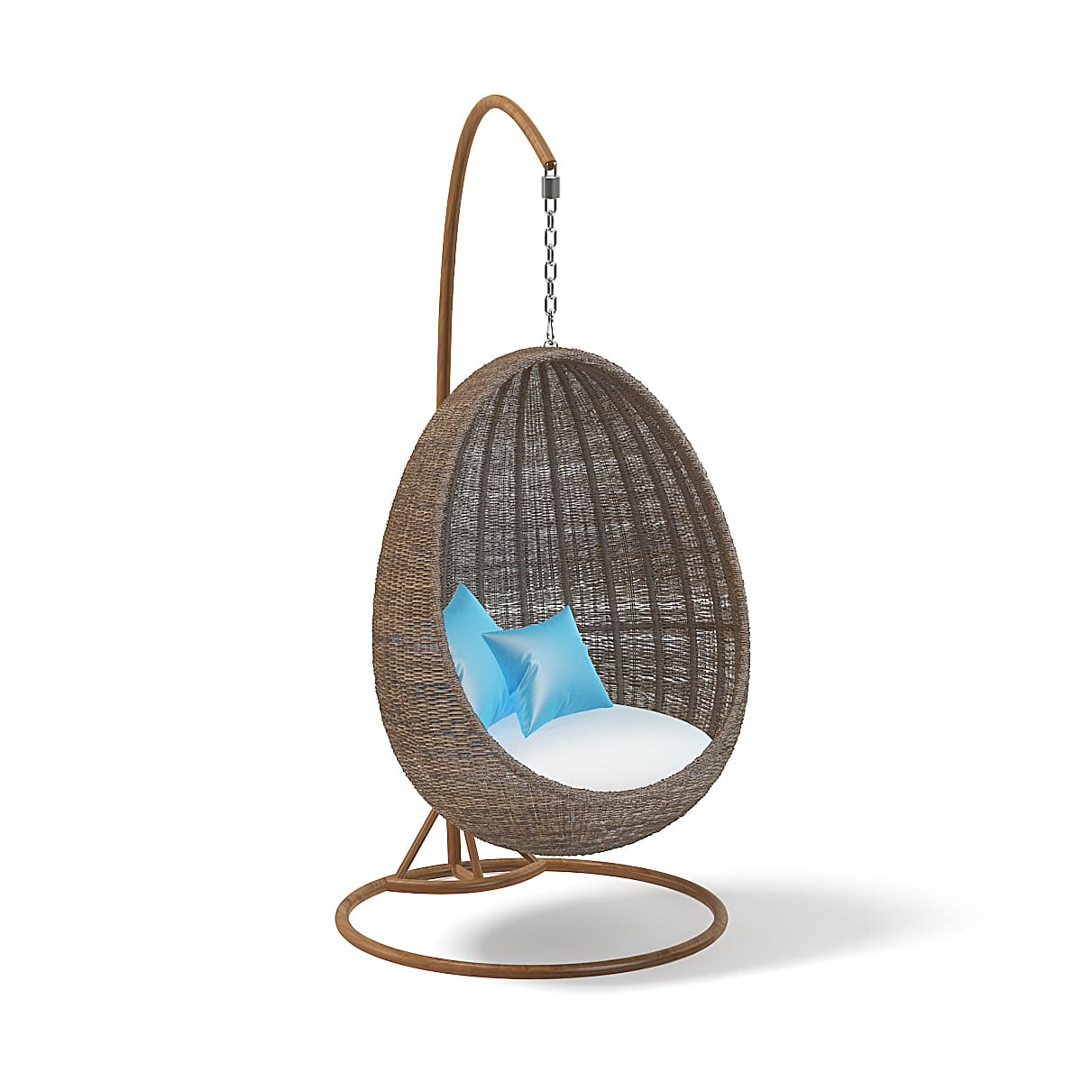 Wicker Hanging Chair 3d Model Cgaxis 3d Models Store