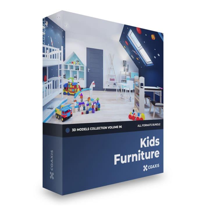 kids furniture 3d models