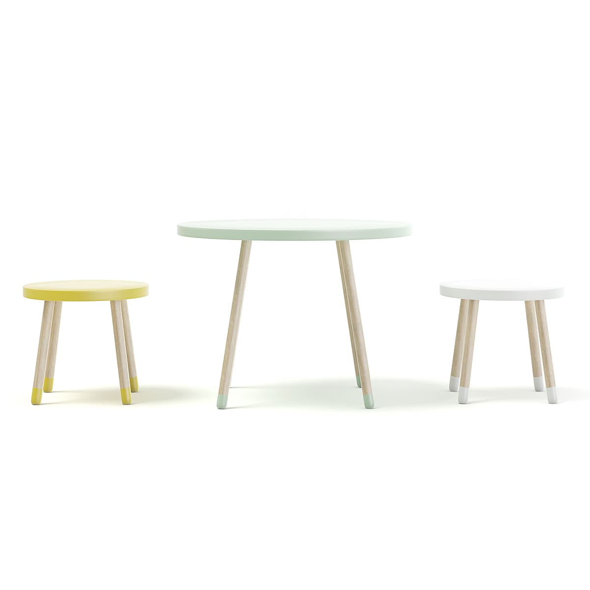 Three Color Children S Table And Stools Cgaxis 3d Models Store