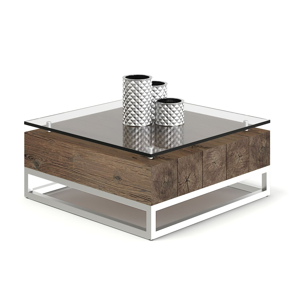 Wood And Glass Coffee Table 3d Model Cgaxis 3d Models Store
