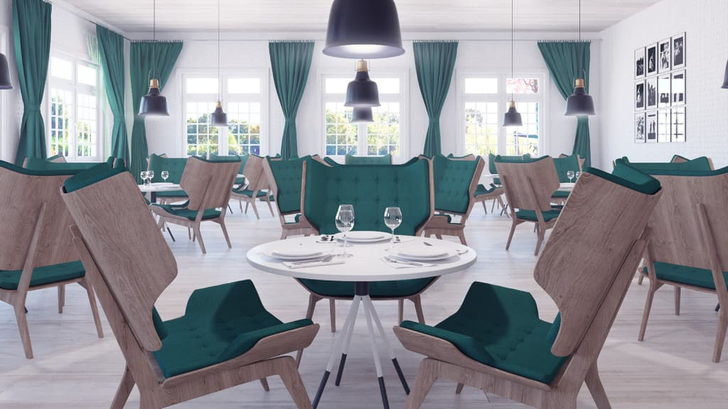 restaurant furniture 3d models