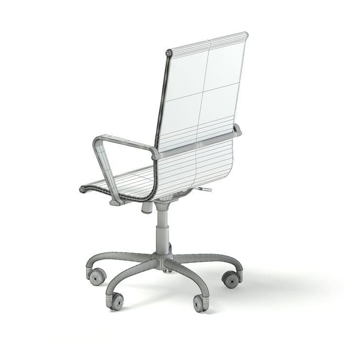 Black Swivel Chair 3D Model