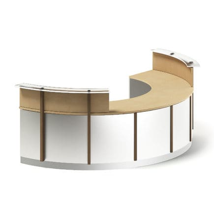 Round Reception Desk 3D Model