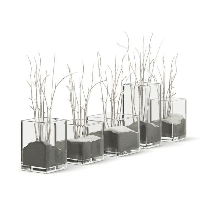 Decorative Flasks 3D Model
