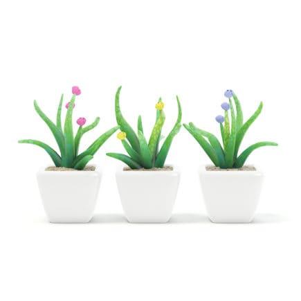 Plastic Flowers 3D Model