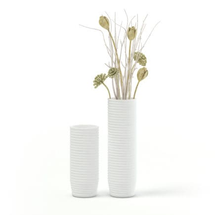 White Decorative Vase 3D Model