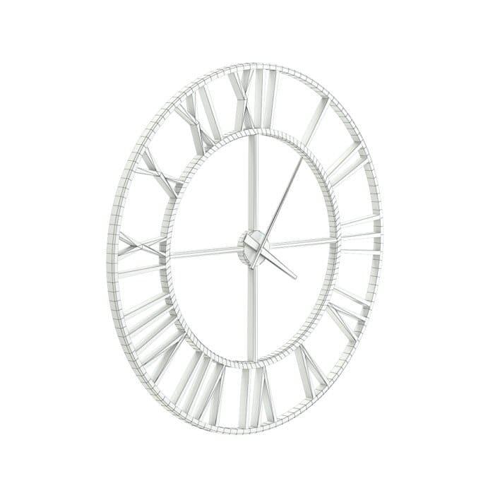 Metal Wall Clock 3D Model