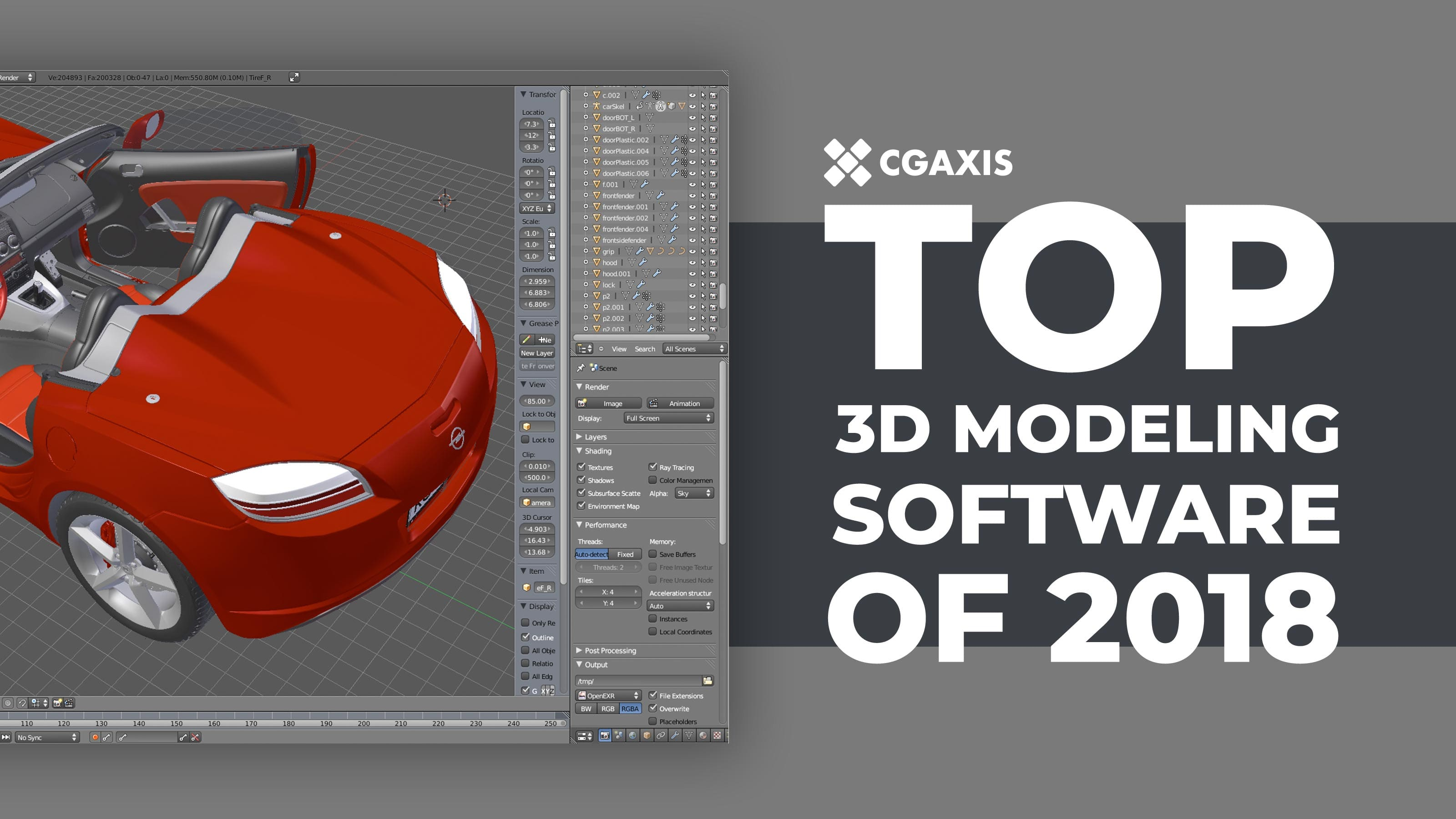 3D modeling software top 2018 CGAxis
