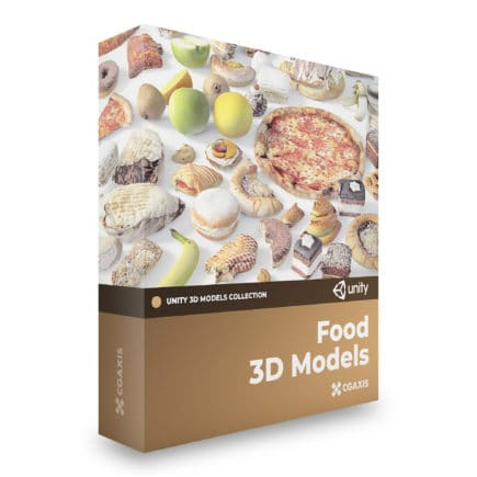 food 3d models for unity