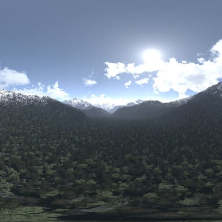 Before Noon Mountains HDRI Sky