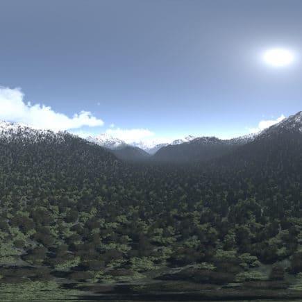 Noon Mountains HDRI Sky