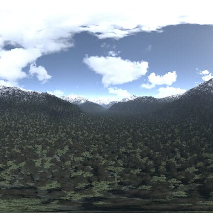 Afternoon Mountains HDRI Sky