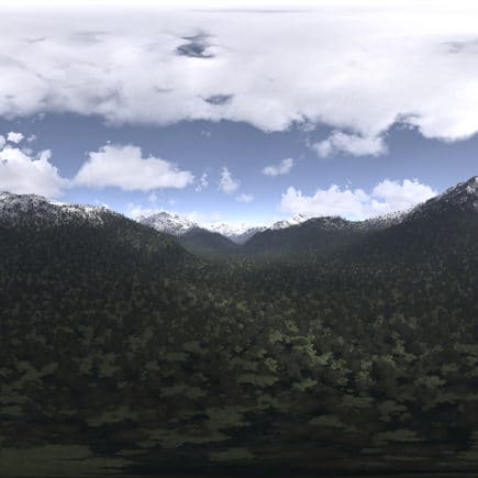Late Afternoon Mountains HDRI Sky