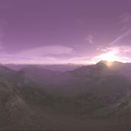 Early Morning Desert Mountains HDRI Sky